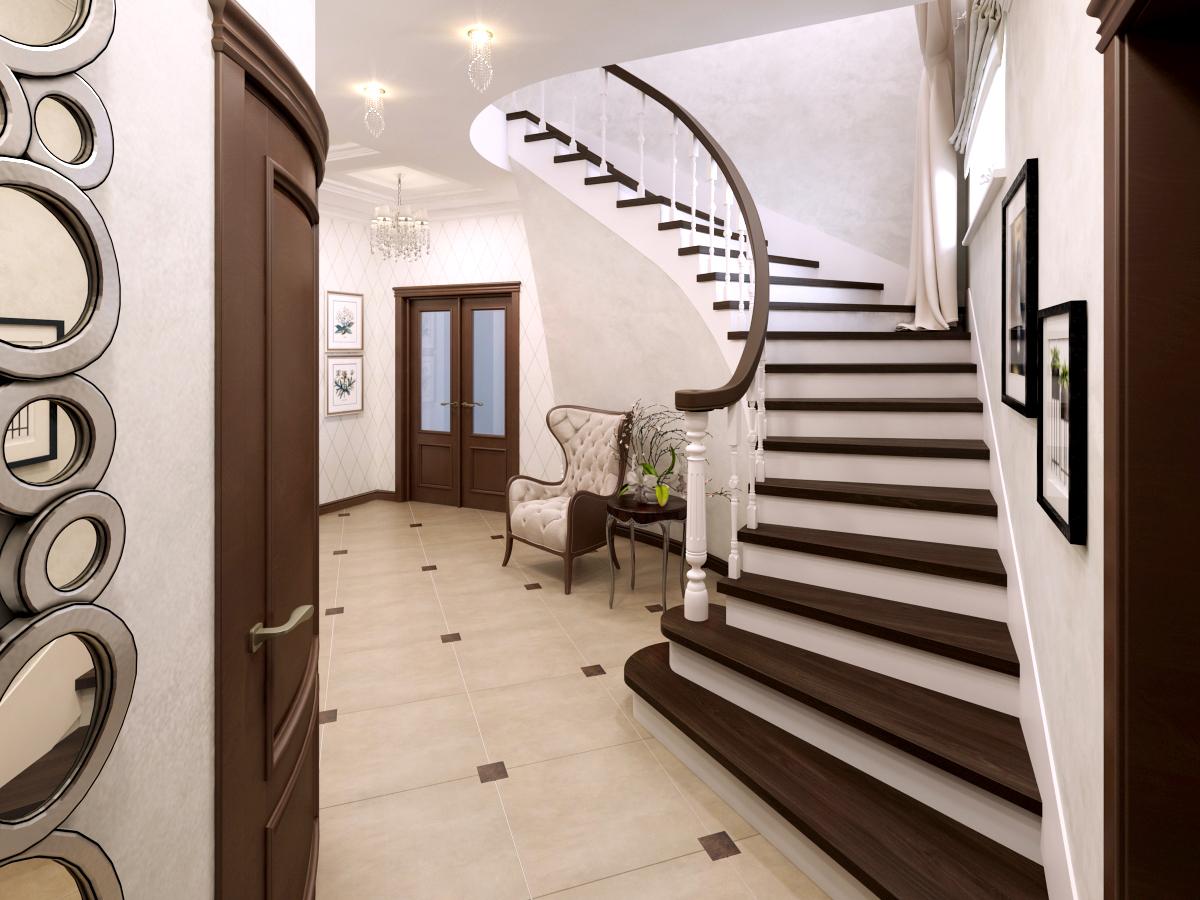 лестница в стиле хай-тек