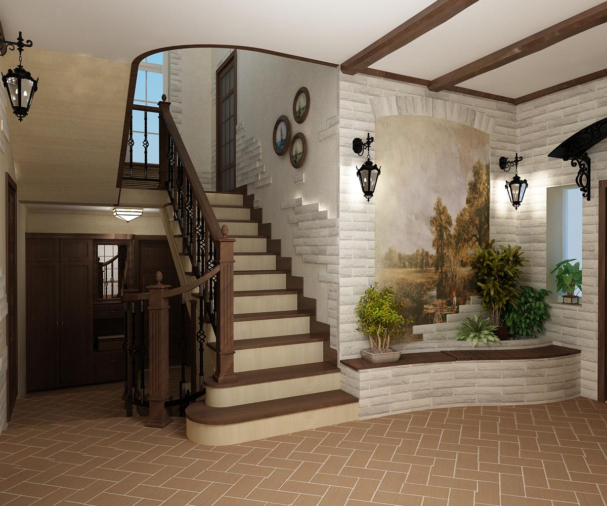 лестницы в стиле кантри