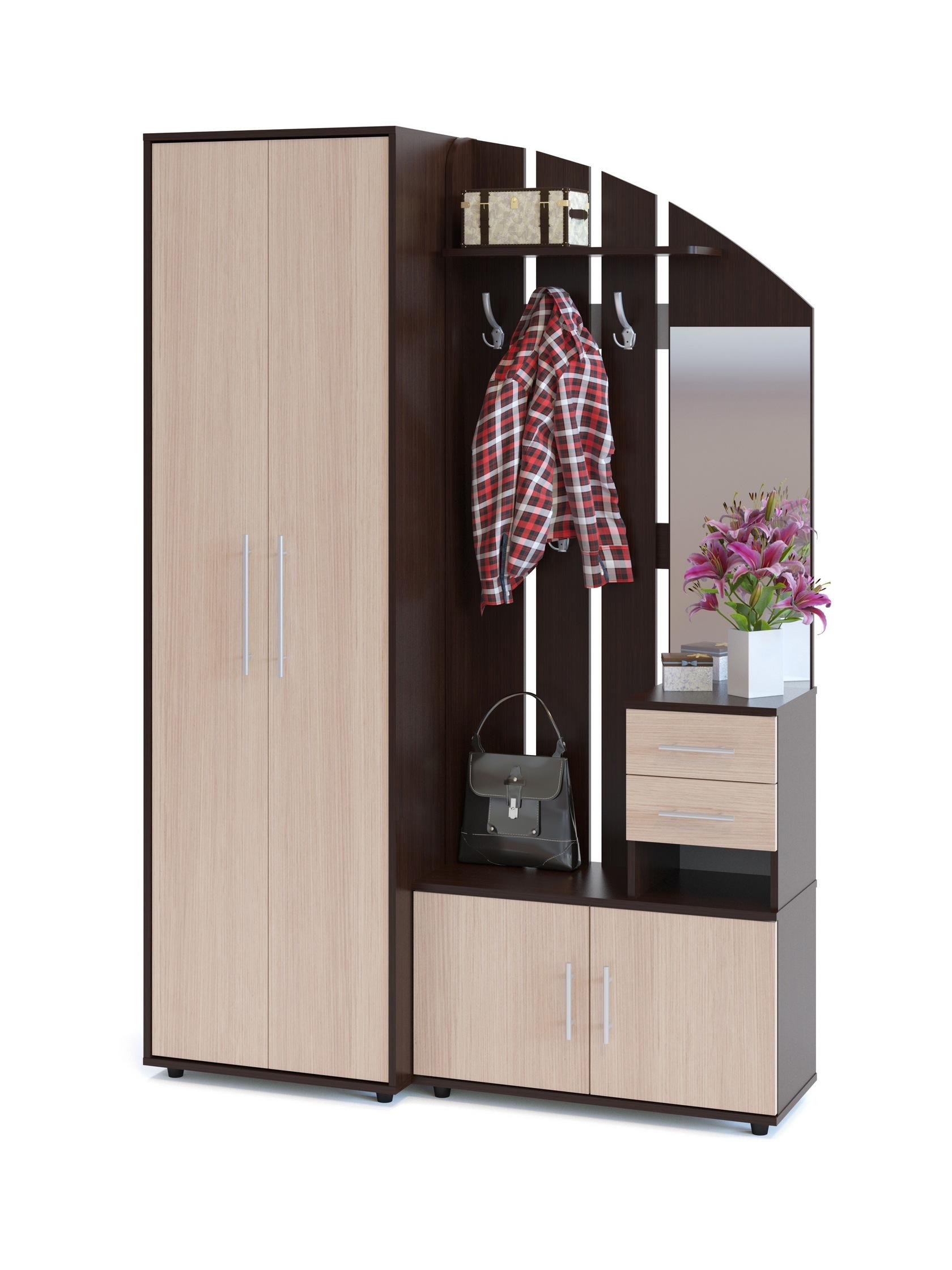Шкаф в модульной прихожей