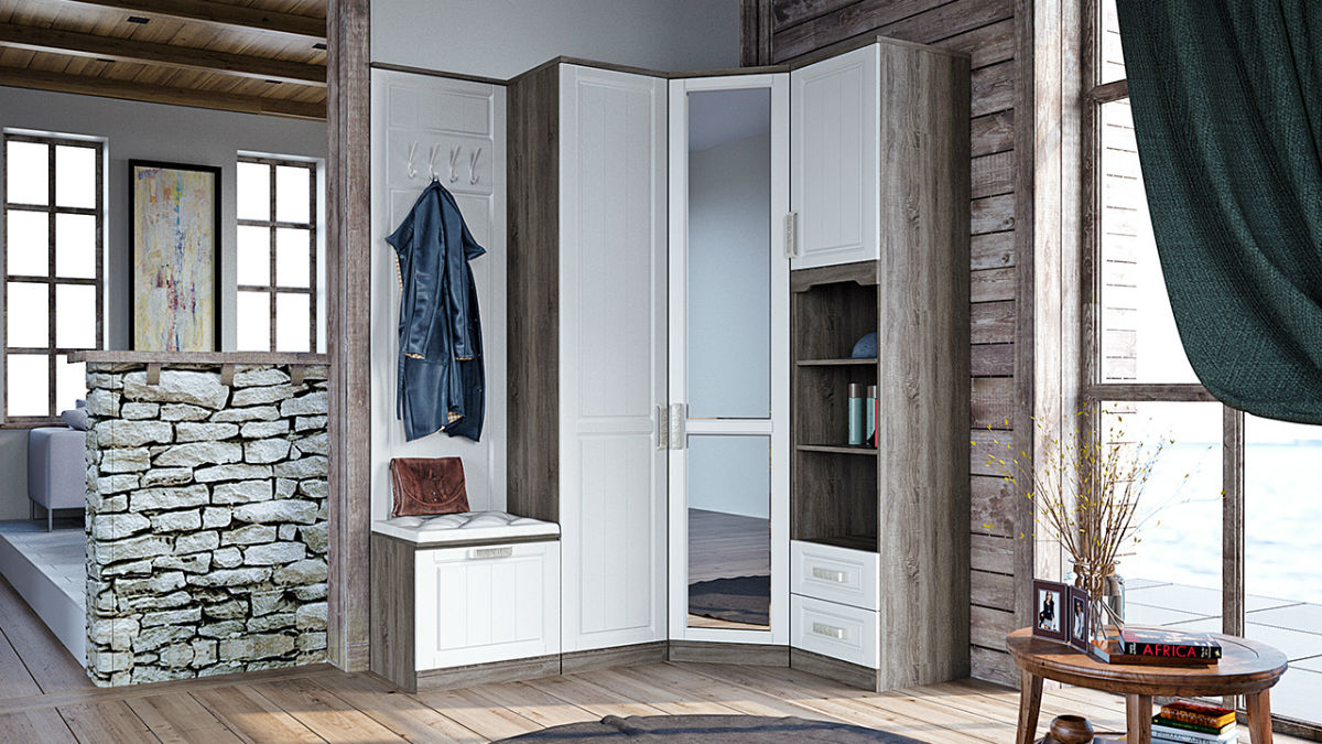Стиль прованс с угловой модульной мебелью