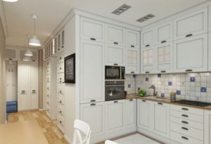 оформление кухни-коридора