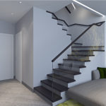 оригинальная лестница в минималистическом стиле