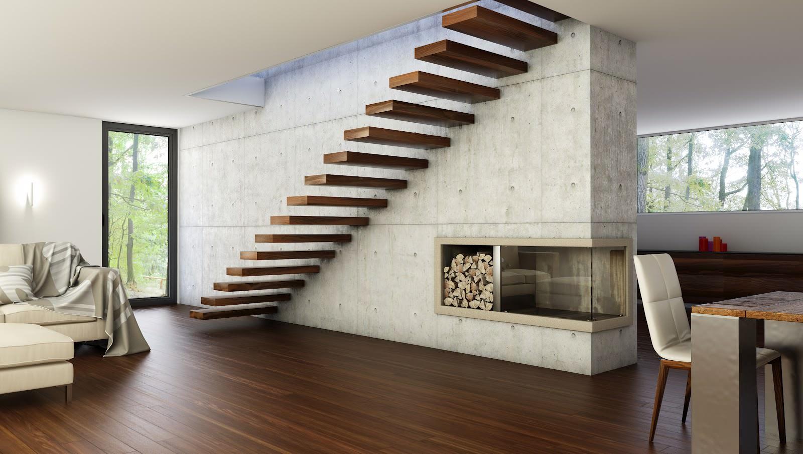 подвесная конструкция лестницы