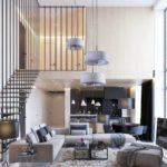 подвесная лестница в большое помещение