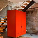 подвесная лестница вместе со шкафом