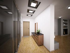 потолок в длинной прихожей