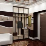 антресоль в стиле модерн и белым диваном