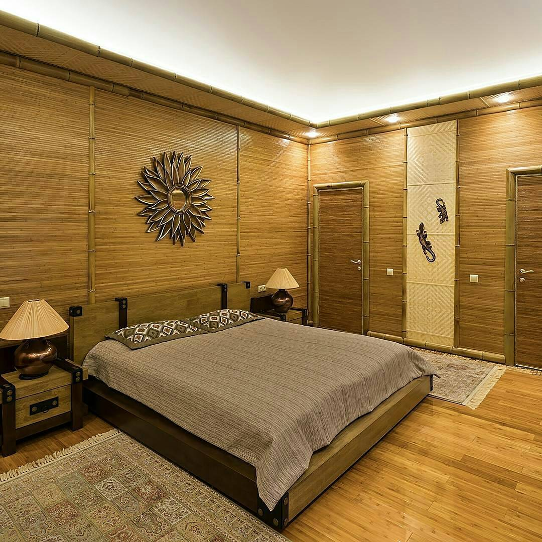 бамбук - отделка стен