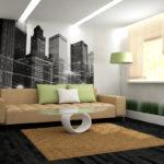 декорирование стен в гостинной