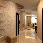 дизайн коридора с обоями