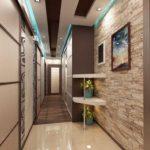 дизайн узкого длинного коридора