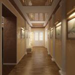 длинный коридор в стиле неоклассика