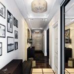 компактный длинный коридор с мебелью