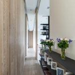 красивое оформление длинного коридора