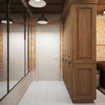 вариант напольного покрытия в коридоре