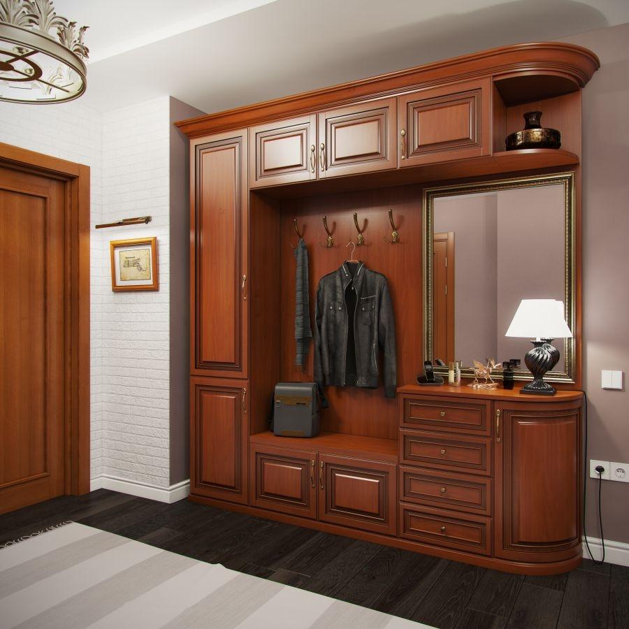 дубовая мебель в коридоре