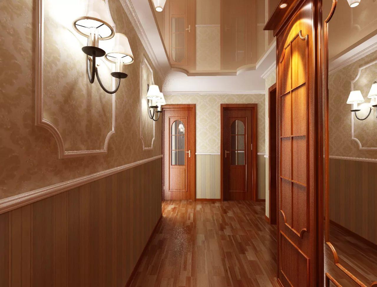 панели пвх в интерьере коридора
