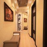 нежное оформление длинного коридора