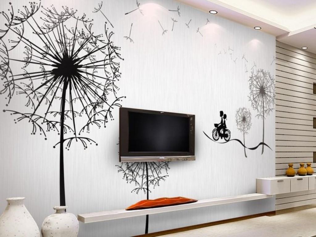 отделка стен с помощью росписи