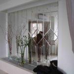 отделка стен с стеклом