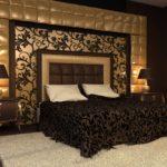 отделка стены в спальне