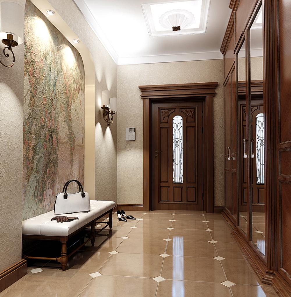 плитка в длинном коридоре
