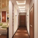 правильное освещение узкого коридора