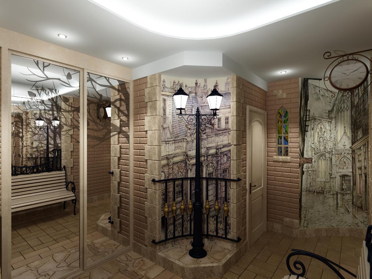 фотообои в маленьком коридоре.