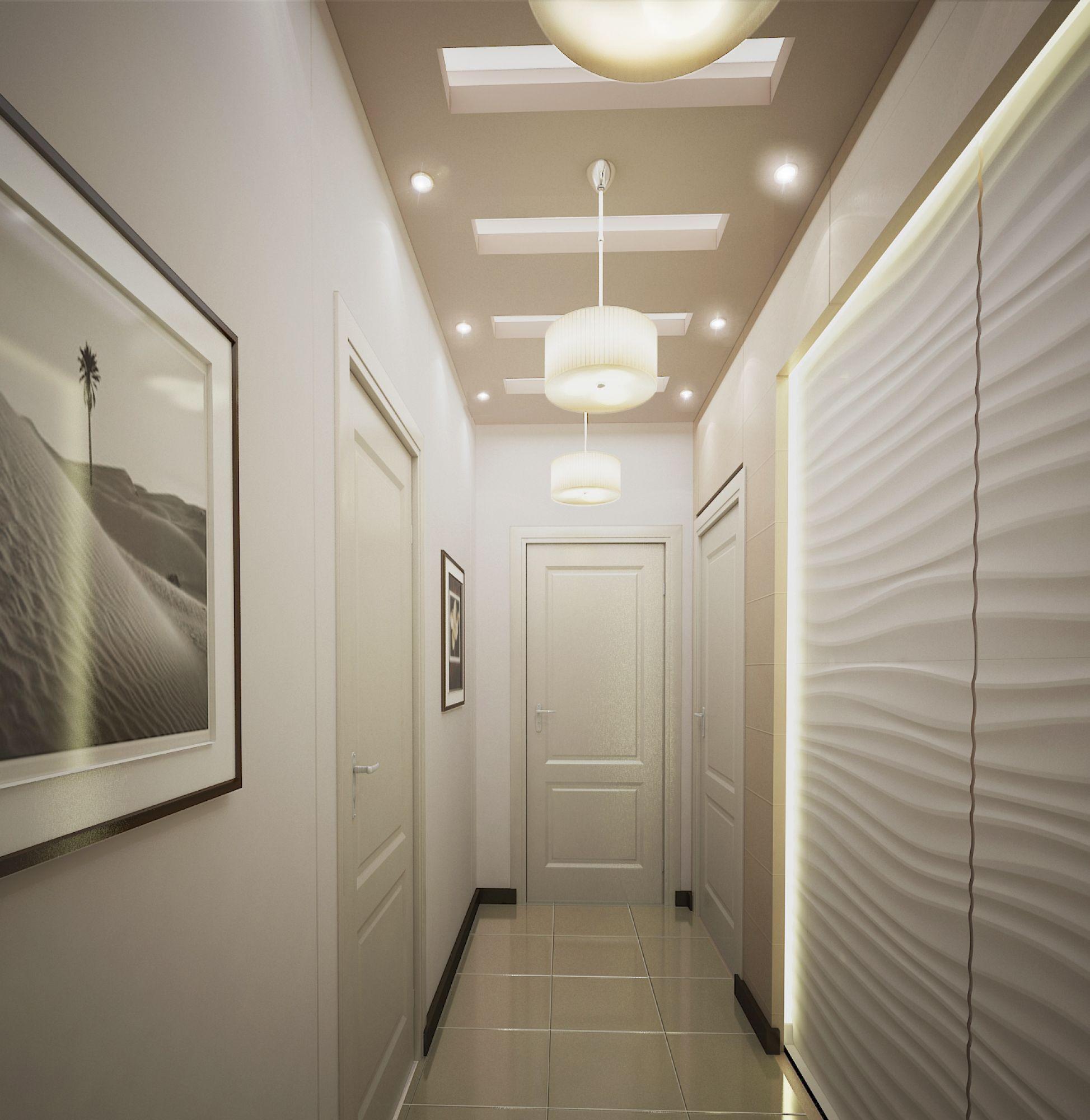 встроенные светильники в коридоре
