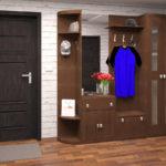 Деревянный шкаф-вешалка в коридор.