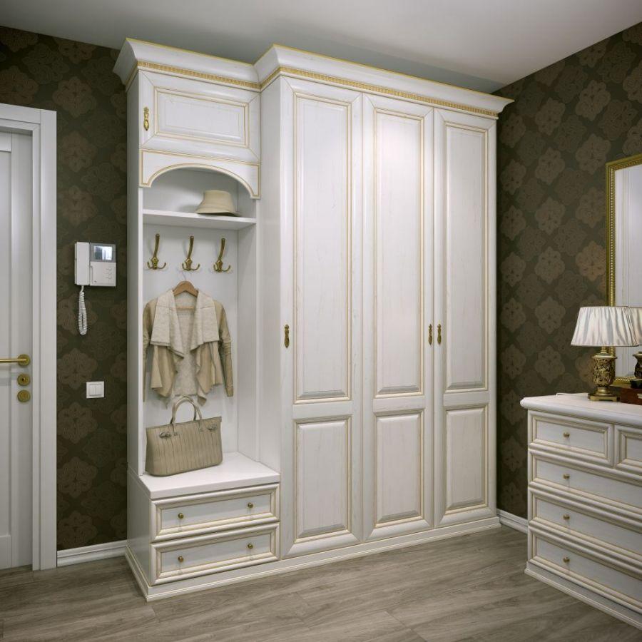 Классический шкаф-вешалка в коридор.