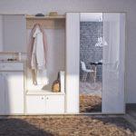 Комплекс мебели со шкафом-вешалкой в прихожую.