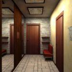 коридор с декоративной отделкой