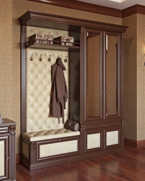 Мебель с каретной стяжкой в коридор.