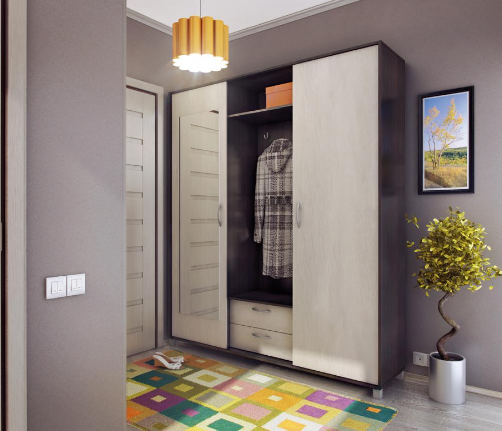 Минималистический узкий шкаф в коридор.