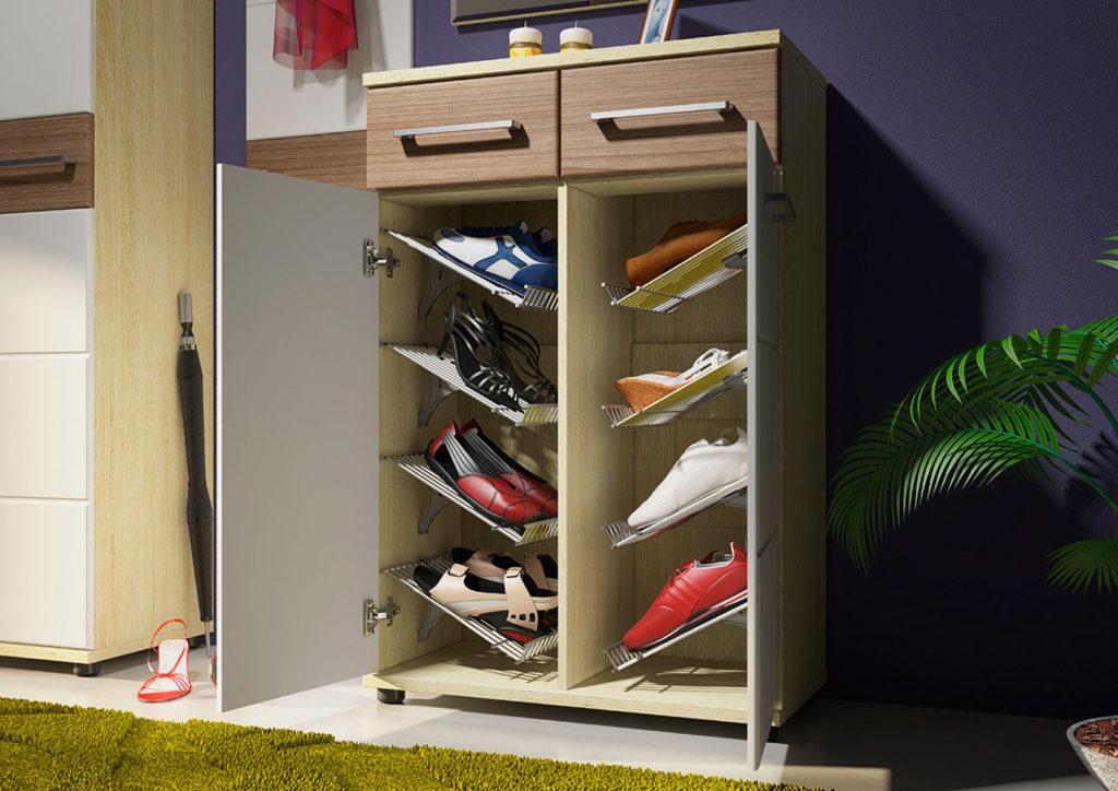 Оригинальный шкаф для обуви.