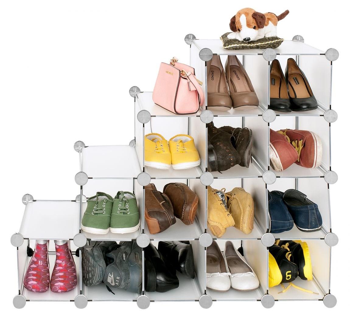 Пластиковая конструкция полки для обуви