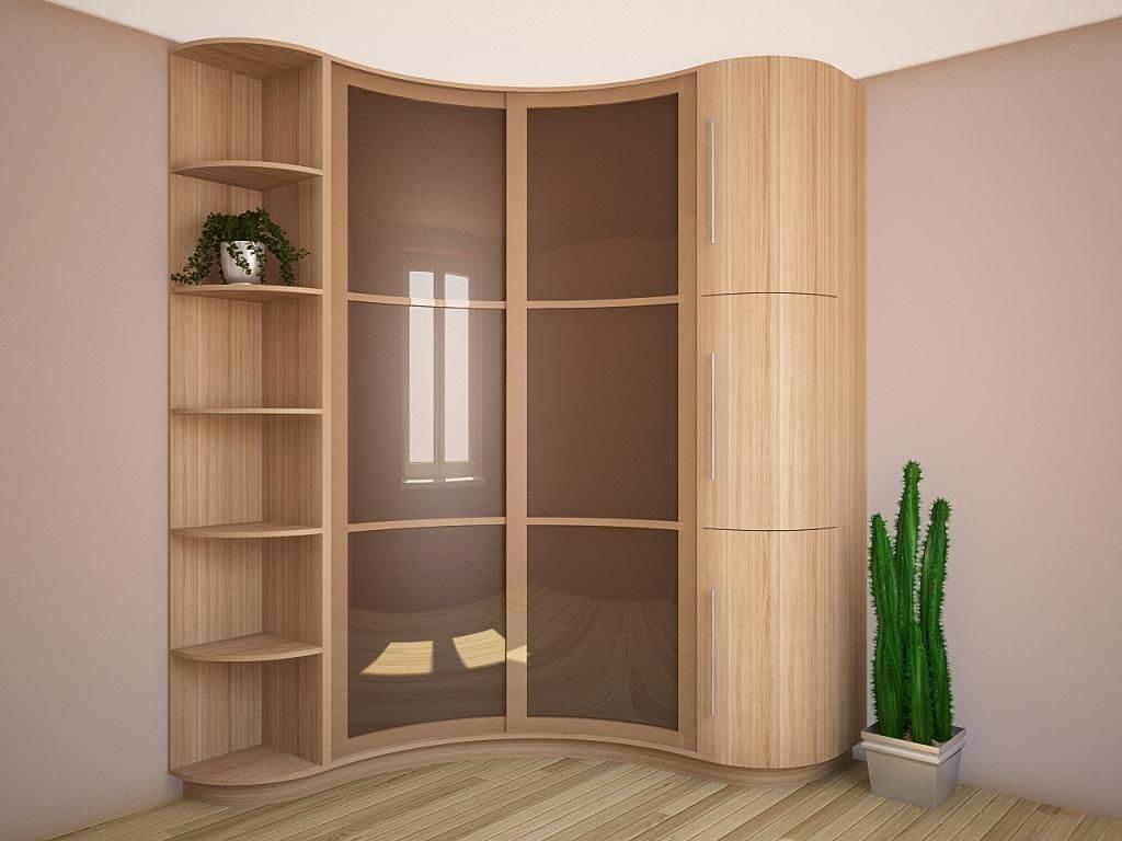 Радиусный шкаф-купе в коридор.