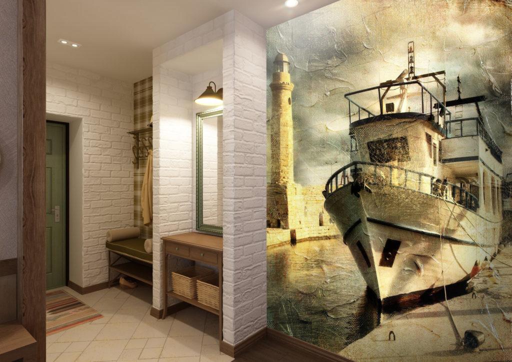 Реалистичные фотообои в коридор.