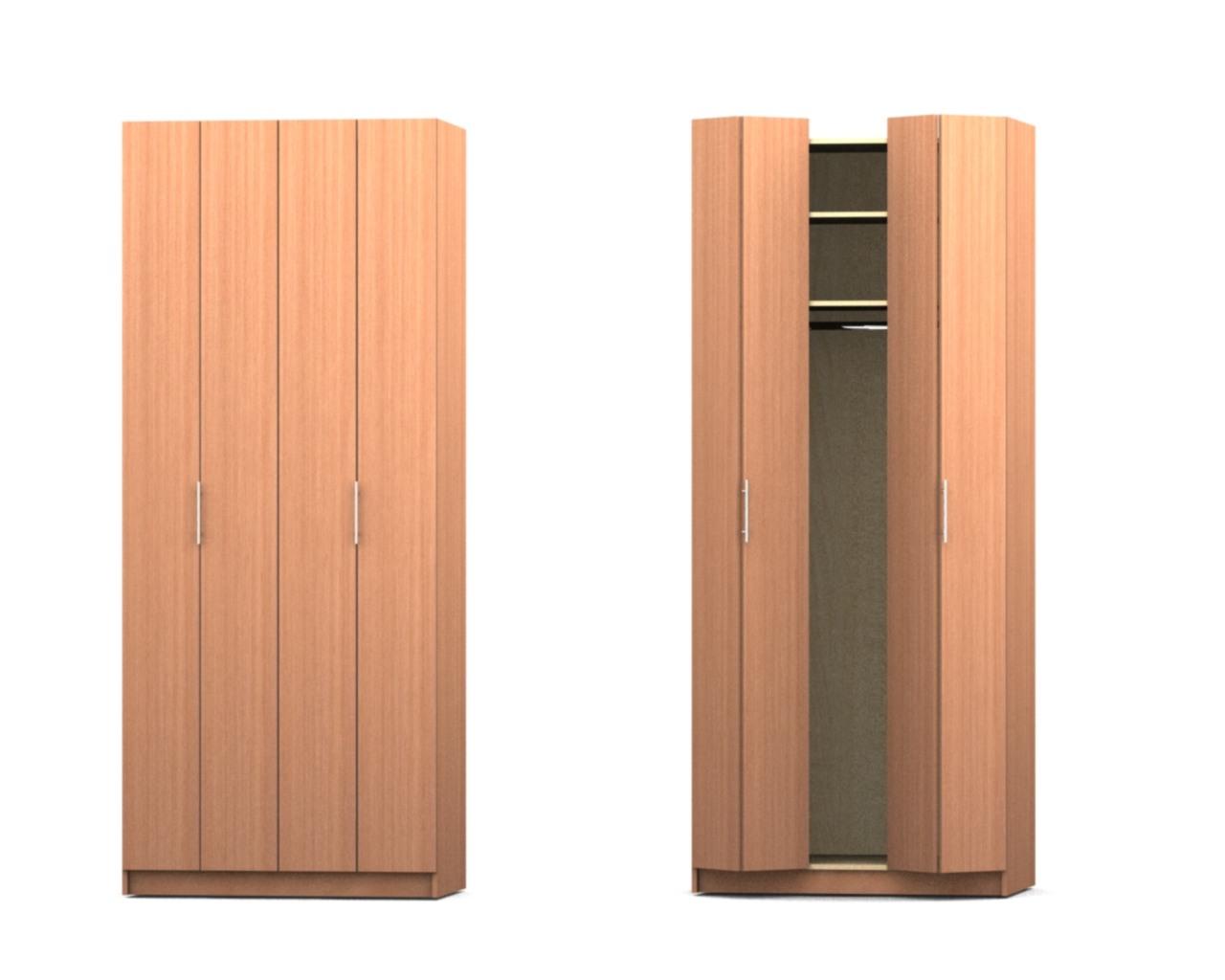 Деревянные дверцы в шкафе гармошке