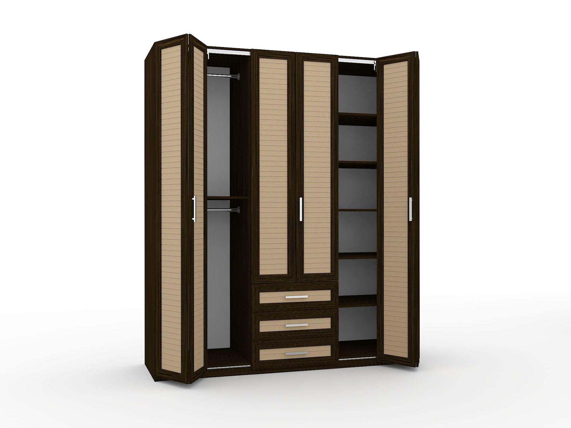 Шкаф-гармошка с плит МДФ