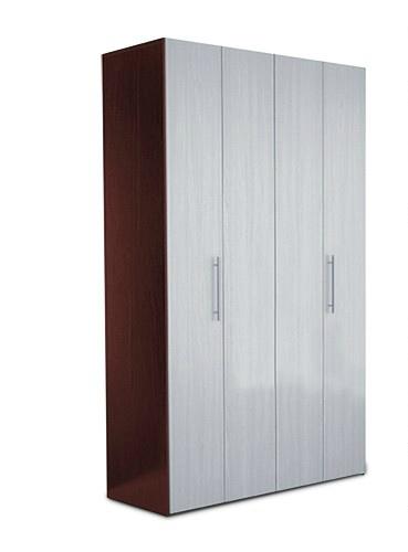 Дверцы из металла в шкафе гармошке.