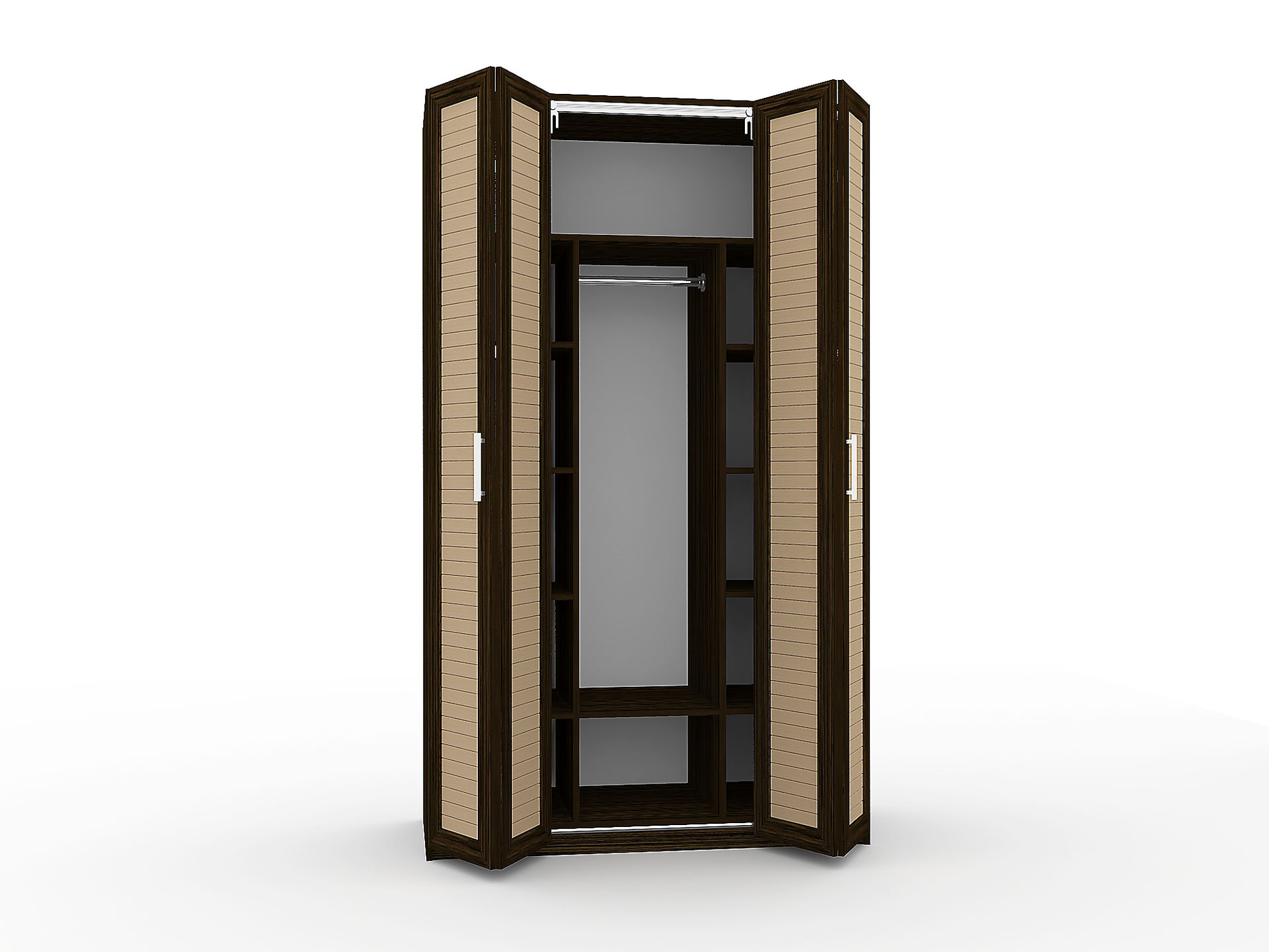 шкаф гармошка с открытыми дверями