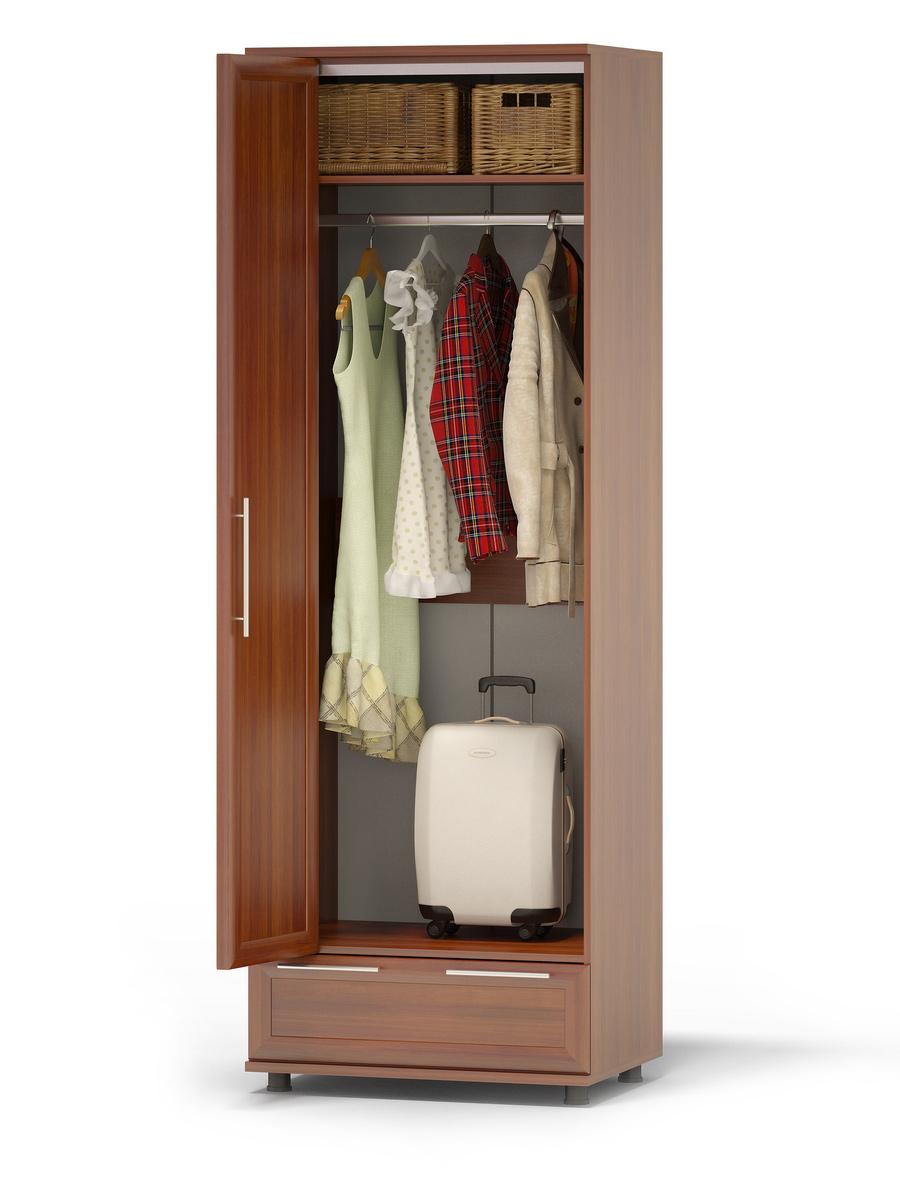 Шкаф-гармошка с одеждой