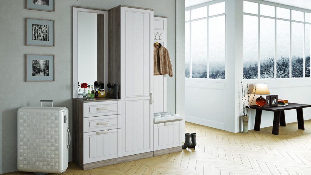 Шкаф-вешалка в стиле прованс.