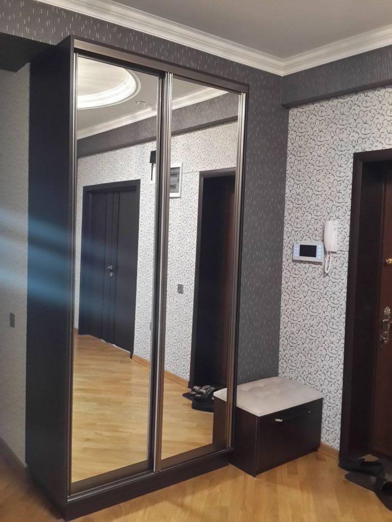 Темный узкий шкаф-купе в коридор.