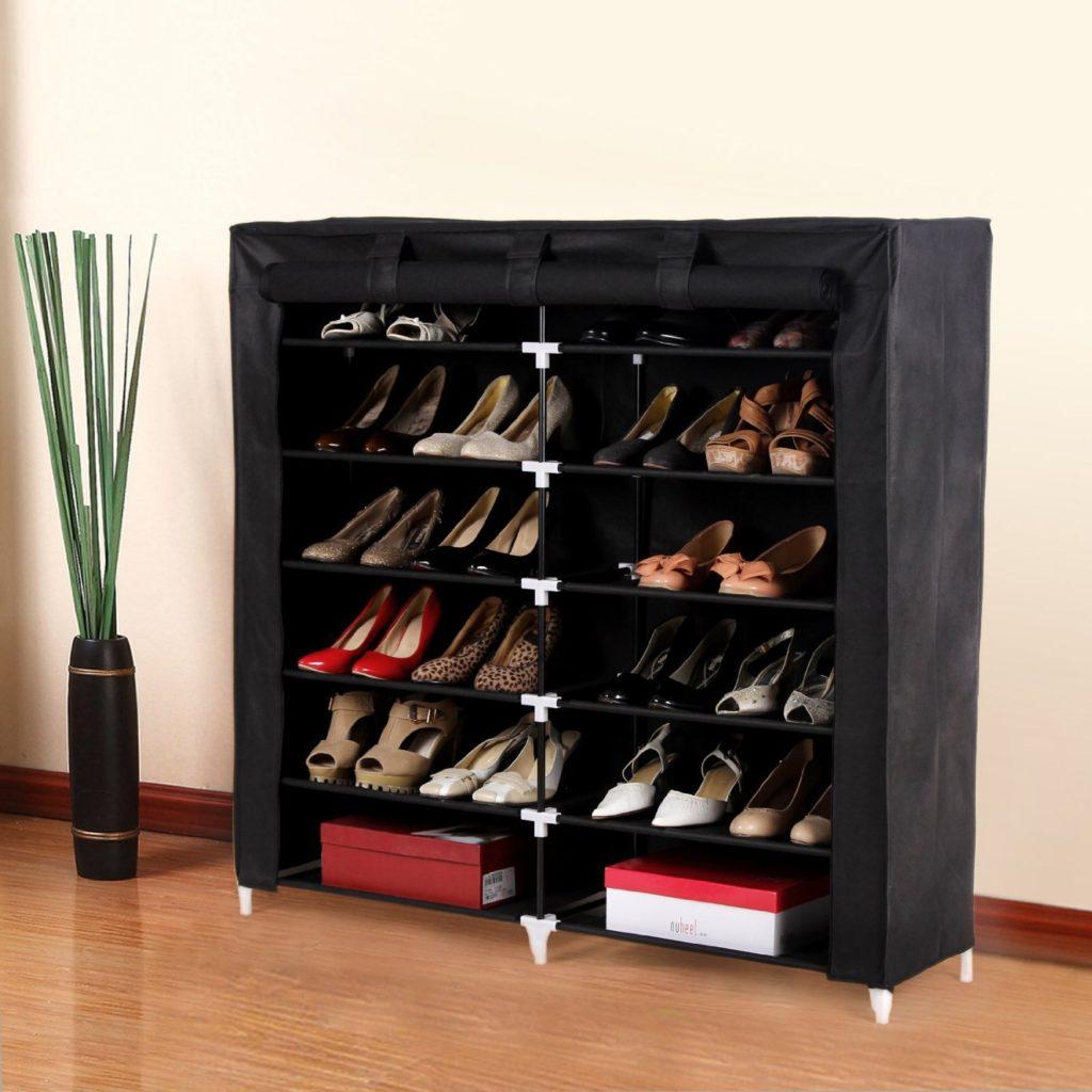 Тканевый шкаф для обуви.