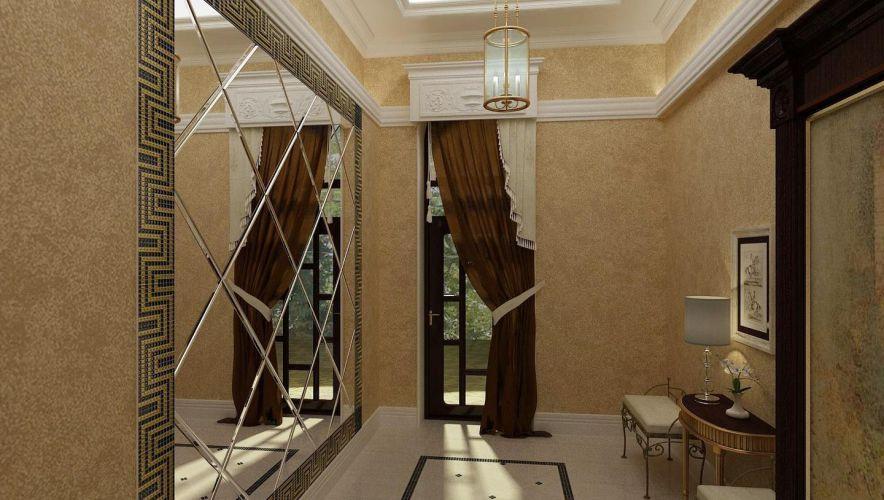 Зеркальные панели в прихожей