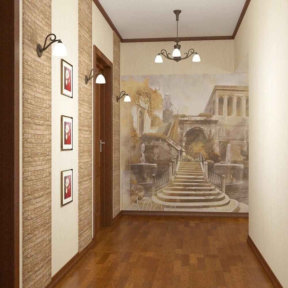 Фото фрески в прихожей