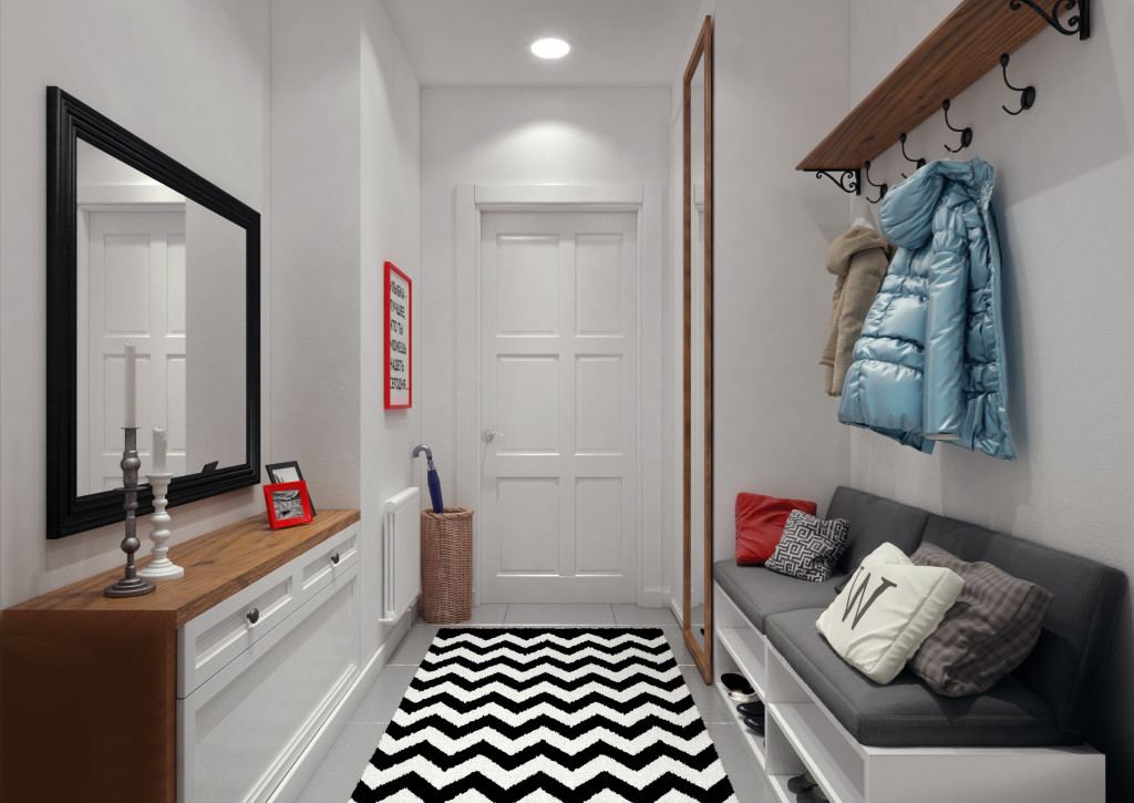 покраска комнаты в белый цвет